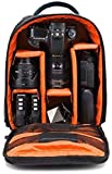 Xsquare Waterproof DSLR Backpack Camera Bag, Lens Accessories Carry Case for Nikon, Canon, Olympus, Pentax & Others-Made in India (Orange)