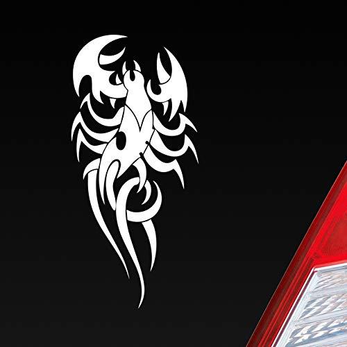 Auto Aufkleber in deiner Wunschfarbe Skorpion Tuning Tribal Sternzeichen 15x8,5 cm Autoaufkleber Sticker Folie