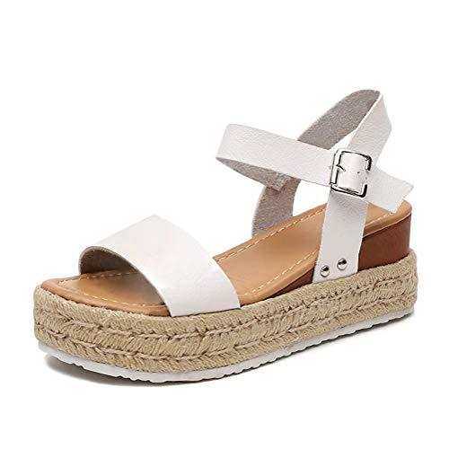 Tomwell Femmes Sandales Ete Chaussures Plates Dentelle...