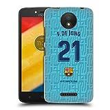 Head Case Designs Oficial FC Barcelona F. De Jong 2019/20 Jugadores Tercer Kit Grupo 1 Carcasa rígida Compatible con Motorola Moto C Plus