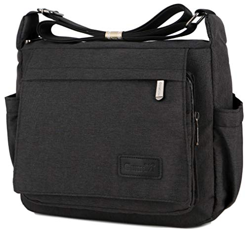 """SELECTED MATERIALS: High-quality waterproof nylon, lightweight and tear-resistant fabric, sooth zippers of hard and shiny mental, small and straight stitches, the easy-to-clean surface of the bag. SMALL AND SPACIOUS ROOM: Size: 12.95 """"Lx 9.05"""" Hx 5.5..."""