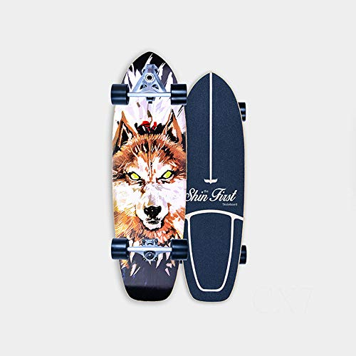 VOMI Monopatín Skate Longboard Cruiser Carver Surfskate Scooter Freestyle 31 Pulgadas Crucero Completo Adolescentes Adulto Tabla De Surf De Carretera for Adolescentes Principiante Cepillo Calle,B