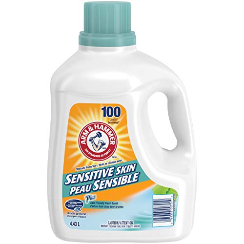 ARM & HAMMER Liquid Laundry Detergent for Sensitive Skin, HE & Standard Machines, 100 Loads, 4.43-L