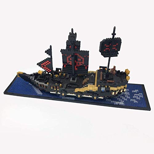 ZT Black Pearl Priate Ship Model Building Block Set Barco grande, rompecabezas 3D DIY Puzzle Playing Nano Micro Blocks Diamond Diy Toys, adecuado for niños mayores de 8 años, Regalo de cumpleaños (179