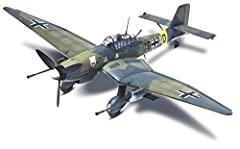 Add this WW II dive Bomber to your collection with this 54-piece model kit Features 2-underwing 37mm BK cannons, pilot and co-pilot figures, 4-piece canopy section Kit is molded in light grey and clear, paint and glue are sold separately Model scale ...