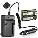 Kastar Battery 1 Pack and Charger Kit for Canon ZR40 ZR45 ZR50 ZR60 ZR70 ZR80 FV100 FV200 FV2 FV3...