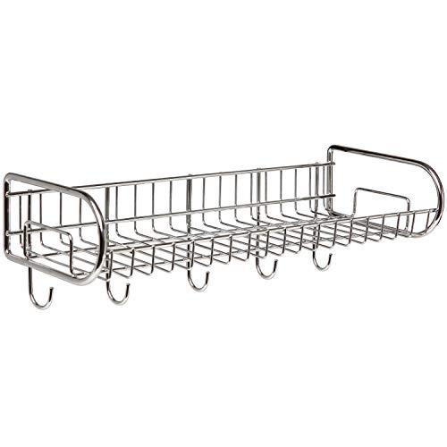 Stainless Steel Wall Mounted Storage Shelf / Utility Rack / Hook Hanger