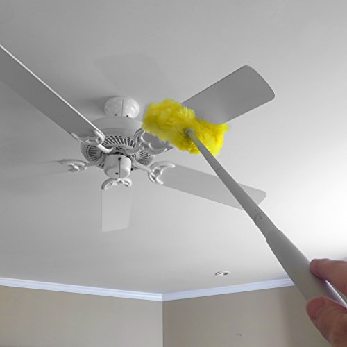 Evelots Ceiling Fan/Duster-Microfiber-Washable-47 Inch Long-Double-Sided Brush