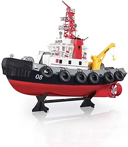 XYQC Barcos de Control Remoto Barco RC 2.4GHz Motor de Alta Velocidad Modelo de Barco de simulación de Fuego Americano con función de pulverización de Agua para niños y Adultos