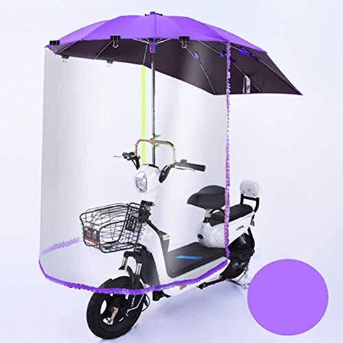 Toldo De Dosel con Cubierta De Lluvia para Motocicleta Eléctrica Universal, Cubierta De Parasol A Prueba De Lluvia para Scooters, Coche De Batería, Motocicleta (Color : Purple)