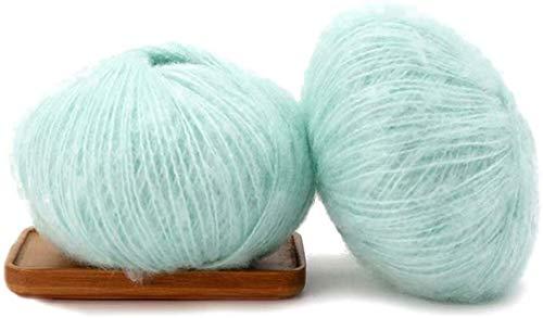 dfhdrtj bekwame mode kleurrijke mohair wol rol geweven breien voor sjaals trui