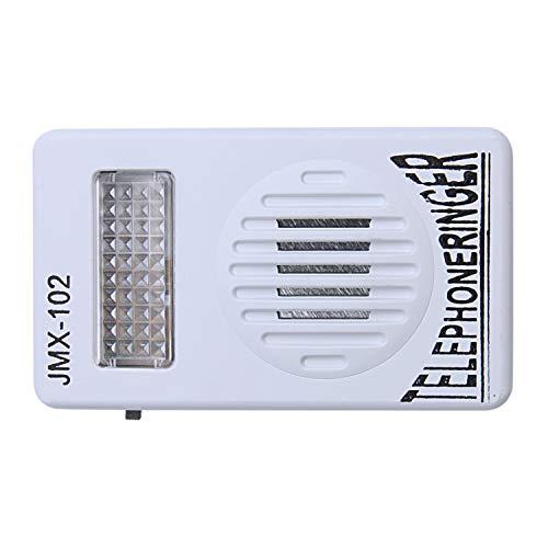 SODIAL RJ11 Adaptador Anillo de telefono ruidoso Amplificador de Flash timbre para Telefono fijo ✅