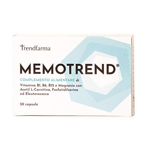 Integratore Memoria e Concentrazione Alimentare con Magnesio e Vitamina B1 B6 B12 - Alto dosaggio per Studio e Lavoro - Senza Glutine