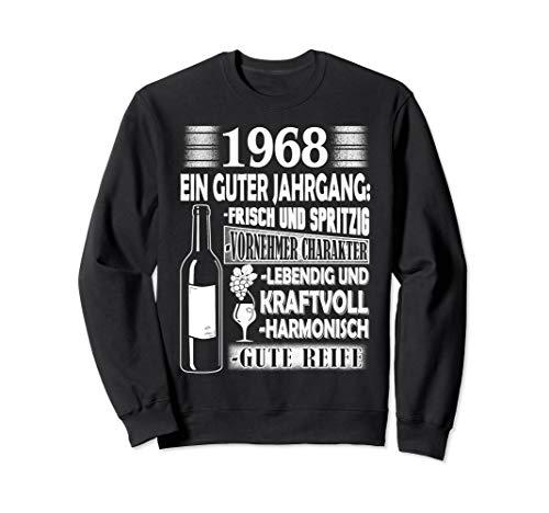 Jahrgang 1968 Geschenk für Mann zum Geburtstag Wein Witz Sweatshirt