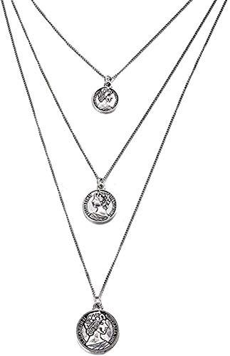 Yiffshunl Collar Hot Multi-Layer Shell Collar de Conchas Marinas Colgante de Monedas Patrón Gargantilla Collares Mujeres Chica Conchas de mar Verano Playa Joyería Regalos de Fiesta