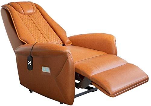 GJNVBDZSF Silla reclinable de Masaje, Silla elevadora eléctrica, sofá, Asientos de Cine en casa, sillón ergonómico, Silla de Lectura con Carga USB, Individual