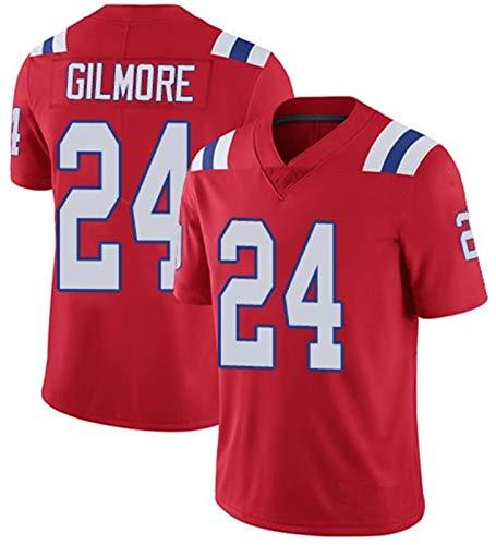 # 24 Gilmore PǎTriots Rugby Camiseta De Néw Englánd, Jersey De Fútbol Americano De Los Hombres Camiseta De Algodón Transpirable Camiseta De Equipo Jersey C-L