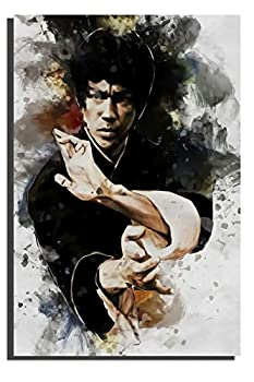 Coobal Bruce Lee Movies Poster Modern Salon Theme Bedroom Bathroom Home Office Living Room Decorations 20 x28