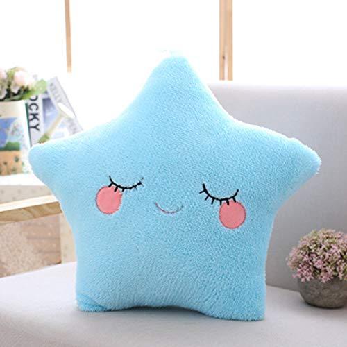 Plüsch Kissen Kinderbett Mond Kissen Kuscheltier Décor Babykissen Sofa Mädchen Kinder Zimmer Baumwolle Kinderzimmerdekoration Blau 40 * 45cm