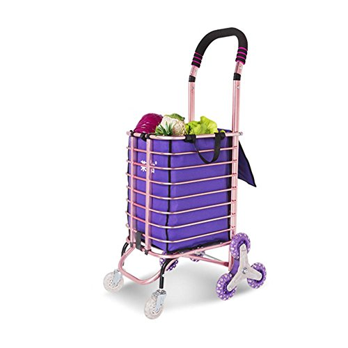 XYLUCKY Carrito de compras de aluminio médico Cargador de gran capacidad de la rueda de 8 ruedas plegable , a