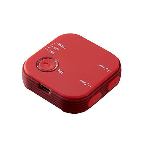グリーンハウス Bluetoth ブルートゥース オーディオレシーバー クリップ付 AAC対応 Bluetooth Ver4.1 レッ...