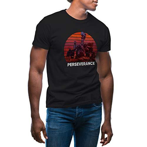 GR8Shop Mars Perseverance NASA Camiseta de Hombre Negra Size L