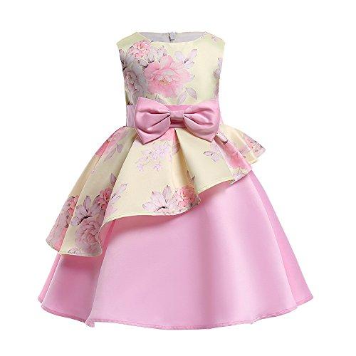Blumen Baby Mädchen Prinzessin Kleid, Quaan Brautjungfer Festzug Kleid Geburtstag Beiläufig Retro Vorabend Party Hochzeit Bowknot...