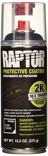 RAPTOR Black UP4883 Bedliner 13.02 Oz 2K Aerosol, 7d-3 Cubic_Meters, 400ml