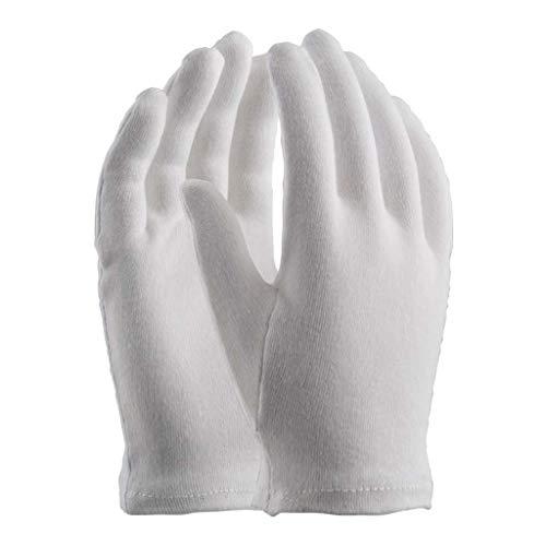 Orma Confezione da 12 Paia di Guanti in Maglia di Cotone 100%, Bianco, Bordato, Misura Donna