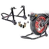 Motorrad Montageständer Set Hinten Universal-Racing schwarz (Paar)