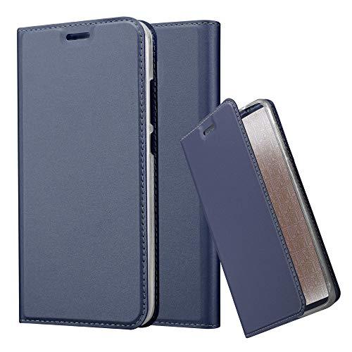 Cadorabo Funda Libro para Huawei Nova Plus en Classy Azul Oscuro – Cubierta Proteccíon con Cierre Magnético, Tarjetero y Función de Suporte – Etui Case Cover Carcasa