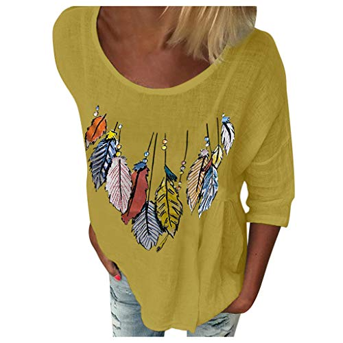 TOPSELD Damen Sommer Falten Bluse Lose Kurzarm Casual Peplum Bluse Tunika T-Shirt...