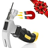 NWPTR 8-oz Stubby Claw Hammer with Magnetic Nail Starter 8 OZ Magnetic Small Claw Hammer Mini Stubby Hammers and Nails Tool Comfortable Soft Handle Magnetic and Anti-slip Head 8 Ounce Claw Hammer