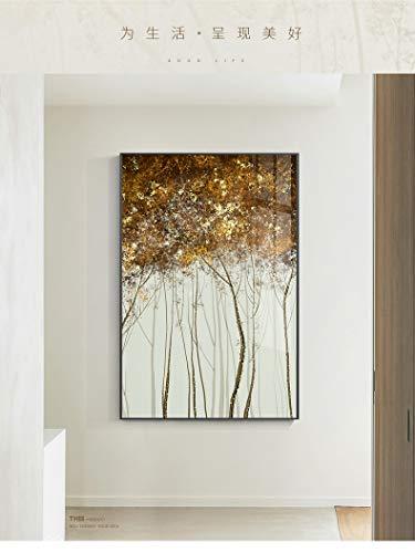 Abstracte gouden stippen stippen stippen canvas moderne poster print creatieve boom decoratie kunst aan de muur foto woonkamer mode frameloze schilderij 40x60cm