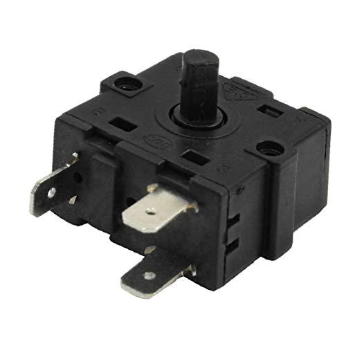 X-DREE Selector de interruptor alto rendimiento rotativo de 3 esencial posiciones AC 250V bien hecho 10A para calentador de espacio(867-1e-8a-ef3)