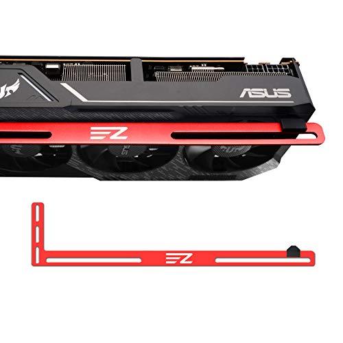 EZDIY-FAB Scheda Grafica Scheda Video per Supporti a Staffa GPU Supporto a Sfera/Custodia per Telaio, Alluminio Anodizzato in Alluminio, Carte Singole o Doppie-Rosso