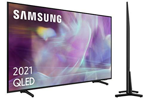 Samsung QLED 4K 2021 43Q60A - Smart TV de 43  con Resolución 4K UHD, Procesador 4K, Quantum HDR10+, Motion Xcelerator, OTS Lite y Alexa Integrada