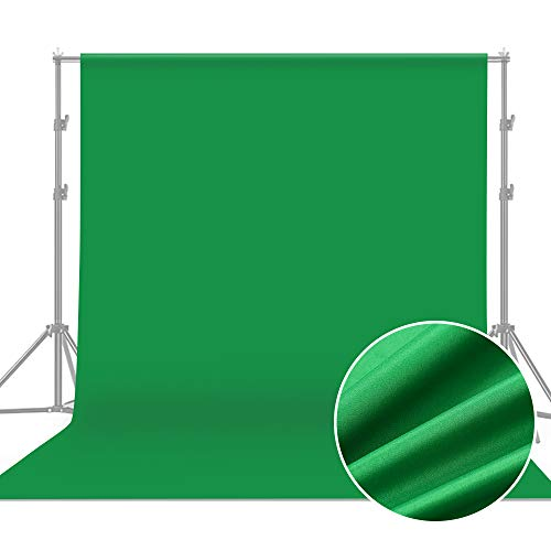 Andoer Photography Background 1.8 x 2.7m / 6 x 9ft Professional Green Screen Studio Backdrop Washable Durable Cotton Fabric Seamless Design for Portrait Product Shooting