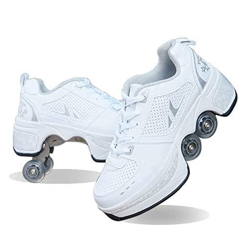 HealHeatersⓇ Rollschuhe Mit 4 Rollen, Unisex, Für Kinder Zweireihige Rollschuhe Outdoor-Sport Skaten Als Geschenk
