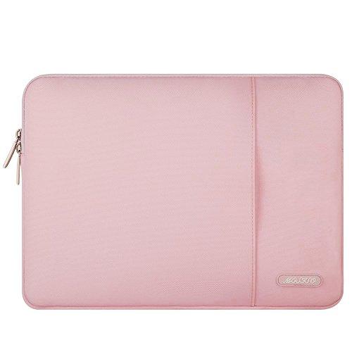 MOSISO Laptop Sleeve Hülle Kompatibel mit MacBook Air 13 M1 A2337 A2179 A1932 2018-2021,MacBook Pro 13 A2338 A2251 A2289 A2159 A1989 A1706 A1708, Polyester Vertikale Stil Laptoptasche,Rosa