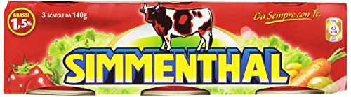 Simmenthal - Piatto Pronto di Carni Bovine in Gelatina Vegetale - 4 confezioni da 3 pezzi da 140 g [12 pezzi, 1680 g]