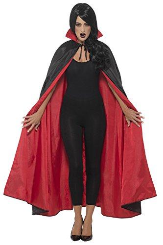 Smiffys Cape de vampire réversible, Noir et rouge, 127cm