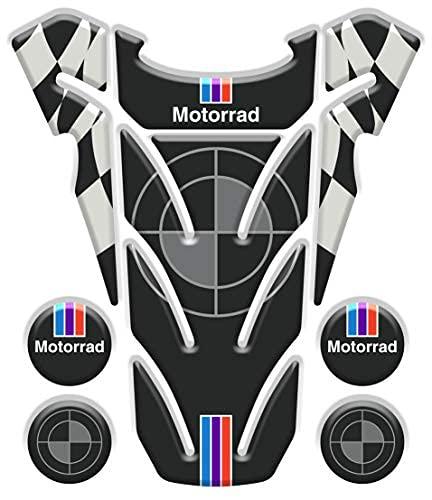 Tankpad - Protector adhesivo resinado con efecto 3D, compatible con moto BMW Motorrad V4