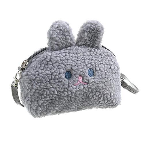 LHXS dames Messenger Bag eenvoudige stijl effen kleur pluche schoudertas half ronde pluche konijn