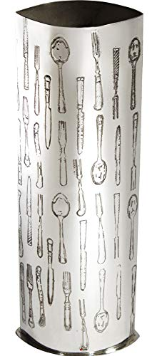 Large 250mm Pewter Vase with Sheffield Cutlery Images