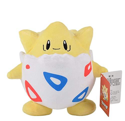 LMSG Pokemon Pikachu Togepi Plüschtier, Kawaii Cartoon Ei Plüsch Puppe Kissen Kind Geburtstagsgeschenk 21Cm