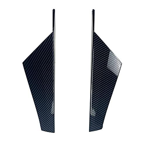 Lin min firm Bakre fönster sida spoiler canard splitter passform för vw passform för golf 8 mk8 mk viii 2020 kol se bil exteriör svans vinge täcker trim läpp (Color : Black)