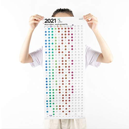 Jahresplaner/Wandkalender für 2020, Familienkalender, 1 x Jahresplaner 2020 + 2 x Aufkleber-Set für Haus, Büro und Schule
