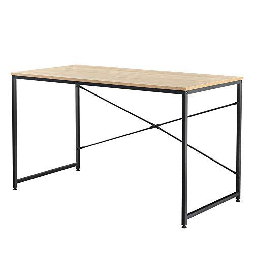 [en.casa] Schreibtisch 120x60x72cm Eiche-Optik Bürotisch Computertisch Arbeitstisch PC Tisch