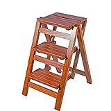 Taburete Escalera Plegable Taburetes de paso Madera de pino 3 Escalera de paso para adultos Artículos para el hogar Escaleras de madera Taburetes pequeños para pies Escalera de mano plegable Banco de